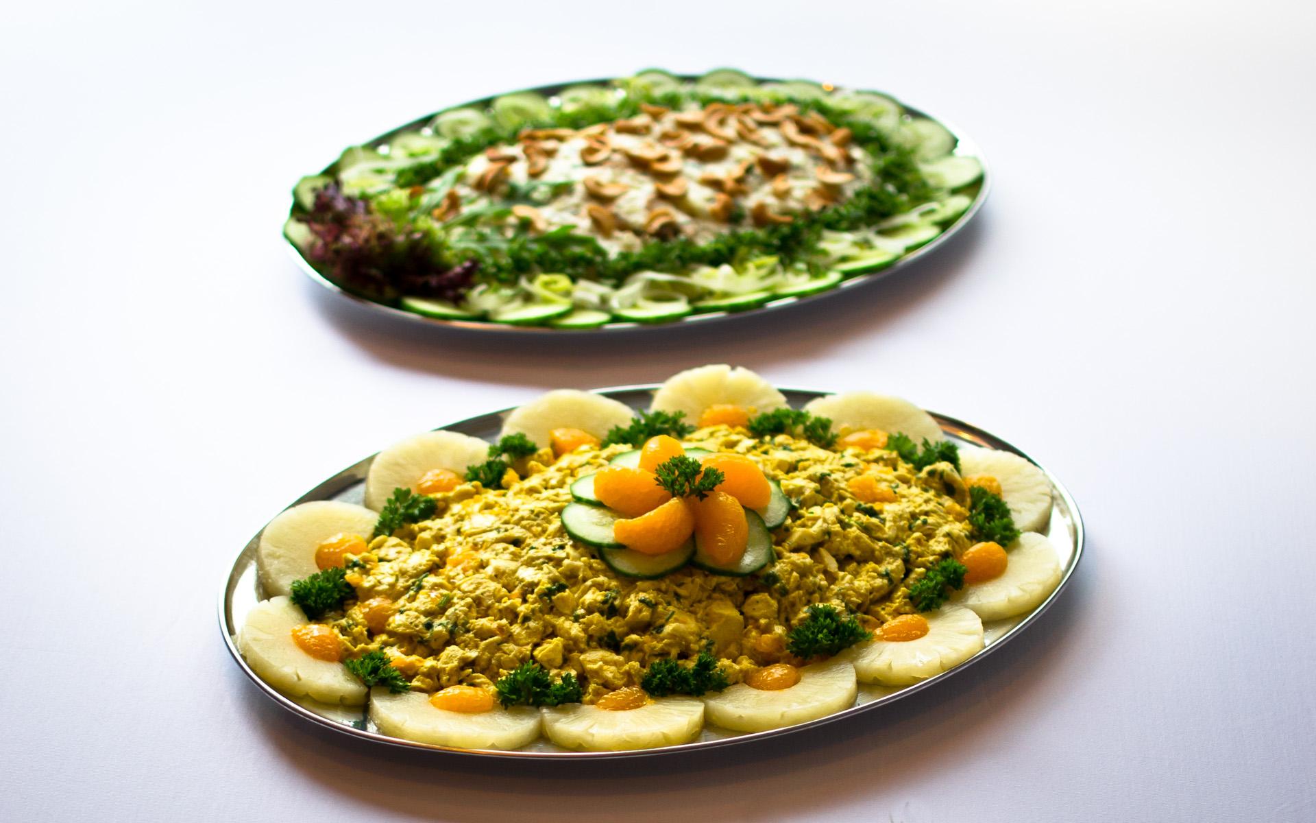 kip-kerrie salade